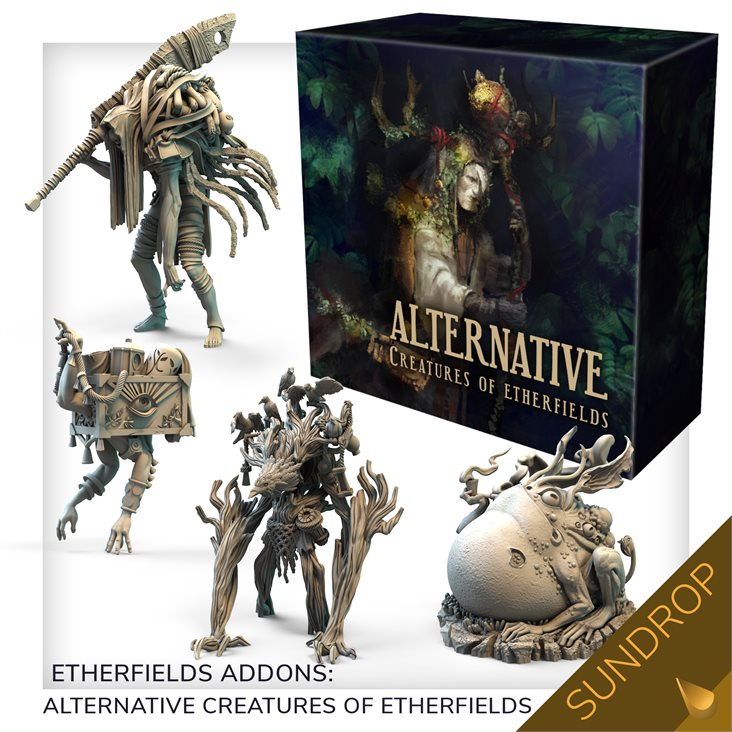 Etherfields core game and creatures expansion and thorn knight In hand