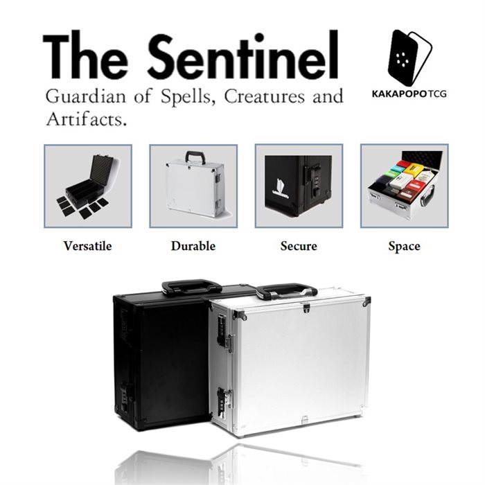 The Sentinel: Briefcase for TCG, Cards, Deck Box, Toploaders
