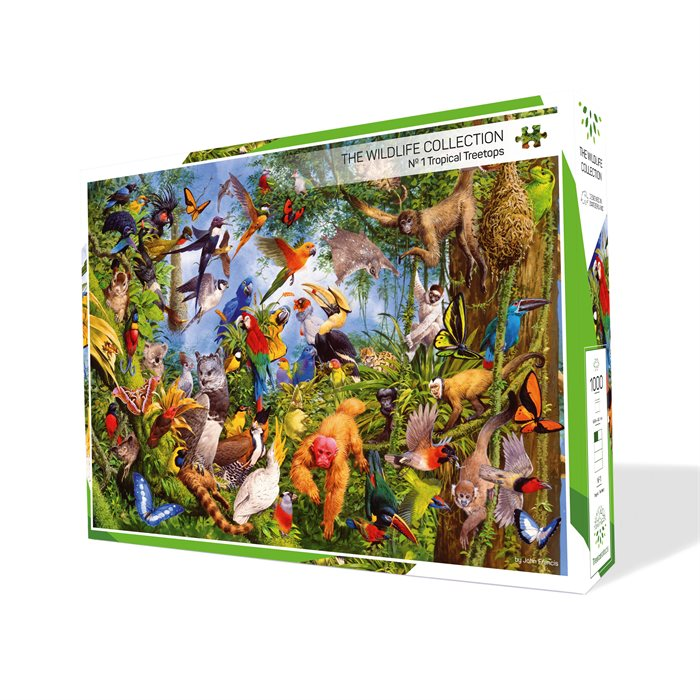 The Wildlife Collection - 4 Puzzles form 1 Artwork